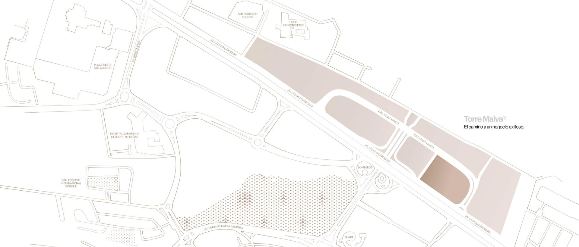 mapa malva distrito armida