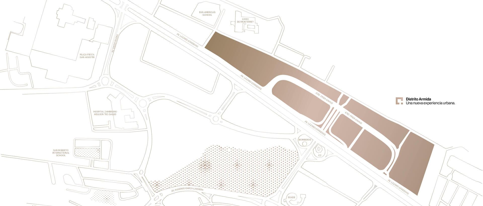 mapa general distrito armida