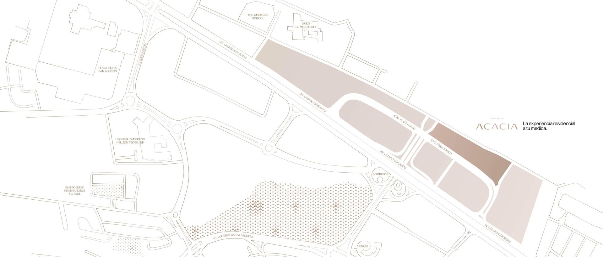 mapa torre acacia distrito armida